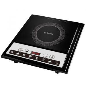 Плита DELTA индукционная 2000 Вт одноконфорочная с электронной панелью управления D-791N