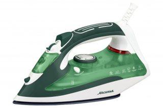 Утюг Аксинья КС-3002 белый/зеленый